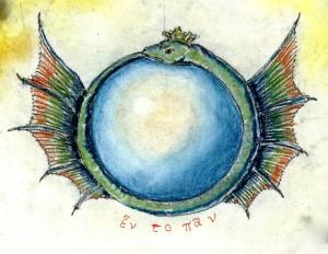 """""""Uroborus"""" in un disegno dell'autore"""