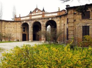 Il cortile di Roccabrivio a San Giuliano MIlanese