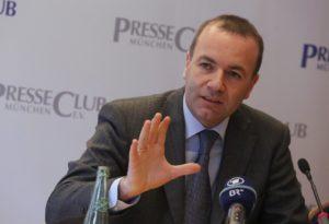 Il tedesco Manfred Weber, Presidente del gruppo del Partito Popolare(PPE) al Parlamento europeo,
