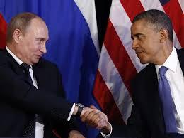 I Presidenti delle due superpotenze russa e americana: Puntin e Obama