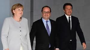 I tre leaders di Germania, Francia e Italia al vertice di Ventotene