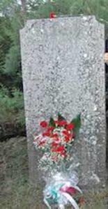 La lapide fatta porre da Giuseppe Garibaldi sulla sepoltura della sua cavalla Marsala a Caprera.