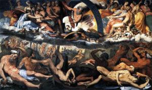 """Perino Del Vaga: """"La caduta dei giganti"""", 1530-1532, Palazzo del Principe Andrea Doria a Fassolo - Genova"""